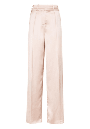 Alexandre Vauthier wide-leg satin trousers - Pink