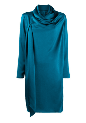 Gianluca Capannolo ruched style dress - Blue