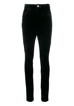 Attico high-waist fitted trousers - Black