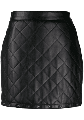 Boutique Moschino leather look mini skirt - Black