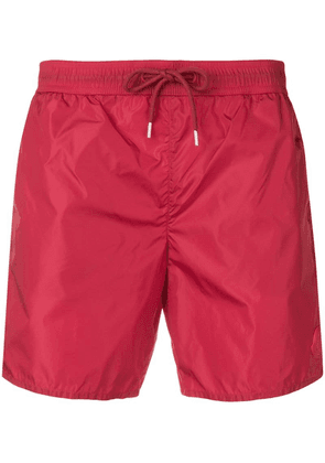 Moncler mid-rise swim shorts - Red