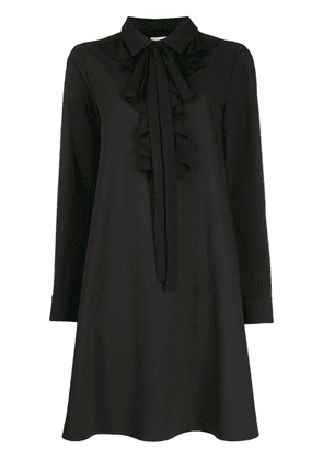 Blumarine Ruffle trim shirt dress - Black
