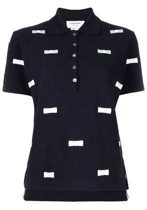 Thom Browne Bow Embroidery Polo - Blue