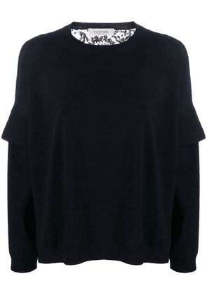 Valentino lace back loose-fit knitted top - Black
