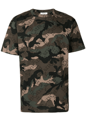 Valentino camouflage VLTN printed T-shirt - Green