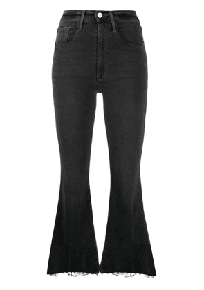 FRAME mid rise flared jeans - Grey