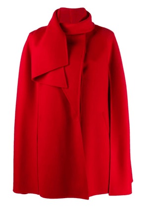 Valentino draped collar cape - Red