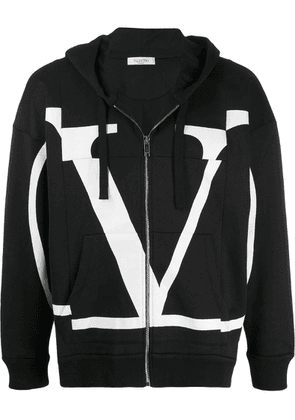 Valentino VLOGO hooded jacket - Black