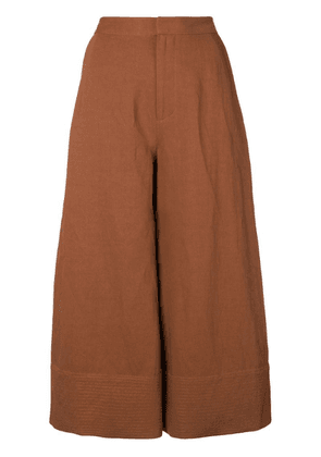 Co cropped palazzo pants - Brown