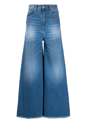 Federica Tosi faded wide-leg jeans - Blue