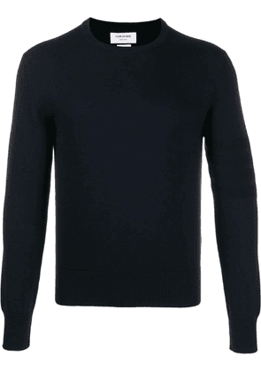 Thom Browne crew neck knitted jumper - Blue