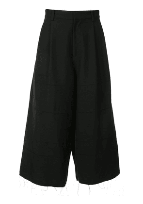 Christian Dada tiered cropped trousers - Black