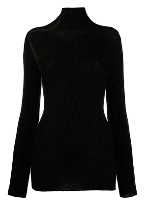 Victoria Beckham open knit details top - Black