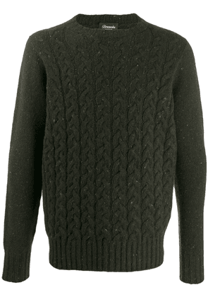 Drumohr crew-neck cable knit sweater - Green