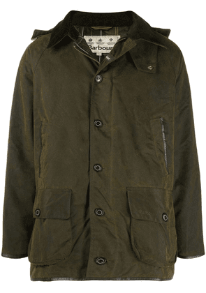 Barbour military style hooded jacket - Green