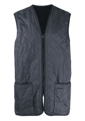 Barbour quilted longline gilet - Blue