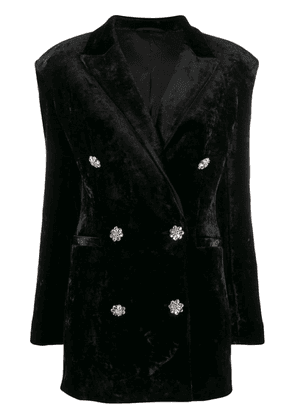 Attico double breasted tuxedo dress - Black