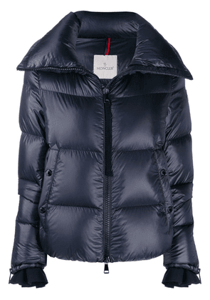 Moncler logo patch puffer jacket - Blue