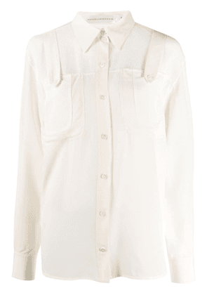 Victoria Beckham contrast patch pocket - White
