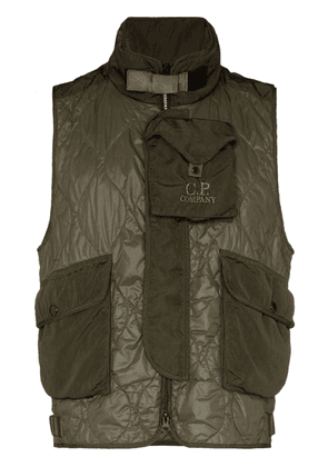 CP Company padded multi-pocket gilet - Green