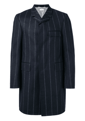 Thom Browne Shadow Stripe Chesterfield - Blue