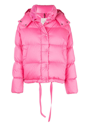 Moncler hooded puffer jacket - Pink