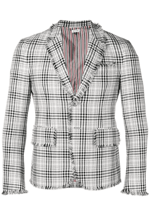 Thom Browne Shadow Prince Of Wales Sport Coat - Black