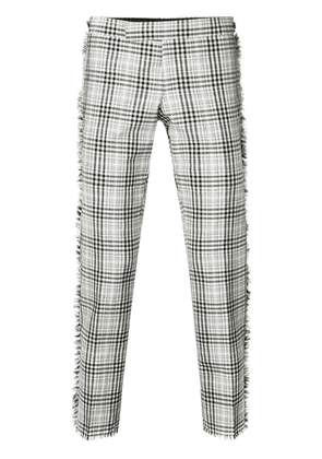 Thom Browne Frayed Shadow Prince Of Wales Trouser - White