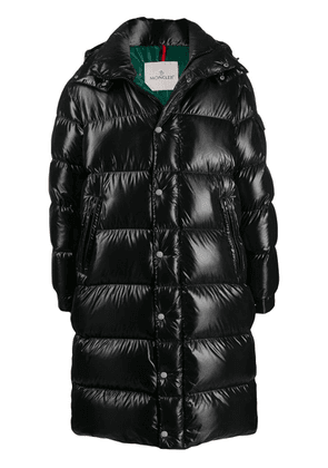 Moncler Hanoverian quilted zip-up coat - Black