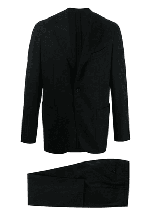 Caruso fitted plain blazer - Black