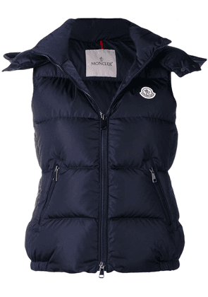 Moncler hooded gilet - Blue