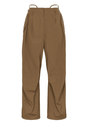 Givenchy wide-leg cargo trousers - Brown