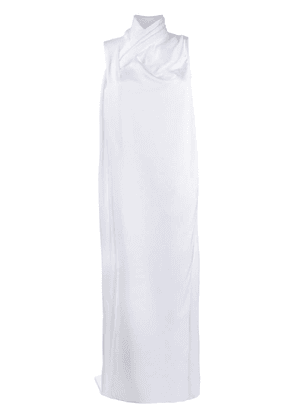 Gianluca Capannolo knot detail evening dress - White