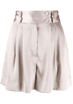 Styland pleated wide-leg shorts - Neutrals