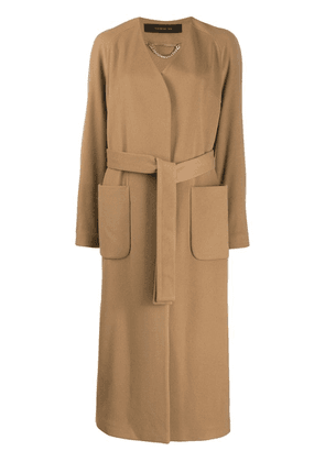 Federica Tosi belted single-breasted coat - Neutrals