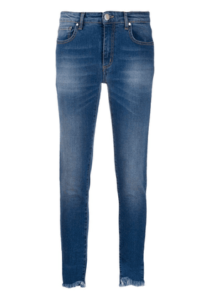 Federica Tosi frayed cropped skinny jeans - Blue