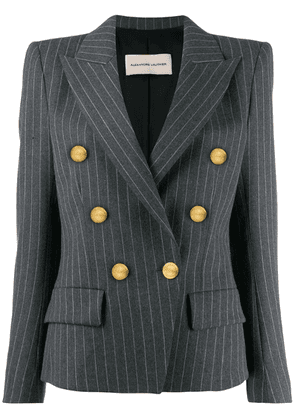 Alexandre Vauthier pinstripe double breasted blazer - Grey