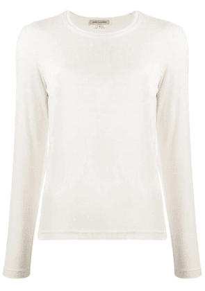 Comme Des Garçons knitted long sleeved top - White
