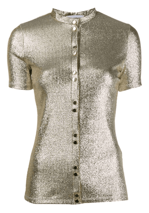 Paco Rabanne metallic buttoned top - Gold