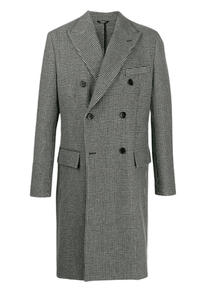 Dolce & Gabbana plaid double-breasted coat - White