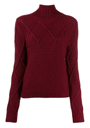 Eleventy turtle-neck sweater - Red