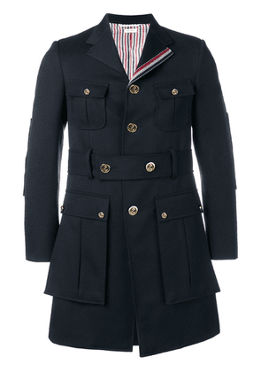 Thom Browne Norfolk High-break Overcoat - Blue