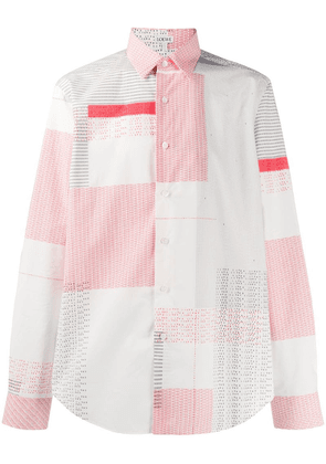 Loewe typewriter print long-sleeved shirt - White