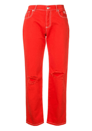 MSGM ripped jeans - Red