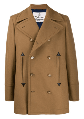 Vivienne Westwood fitted double-breasted coat - Brown