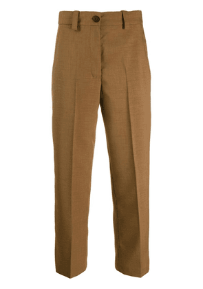 Erika Cavallini cropped tailored trousers - Brown