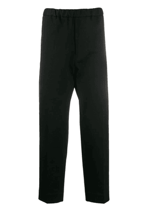 Jil Sander straight cropped trousers - Blue