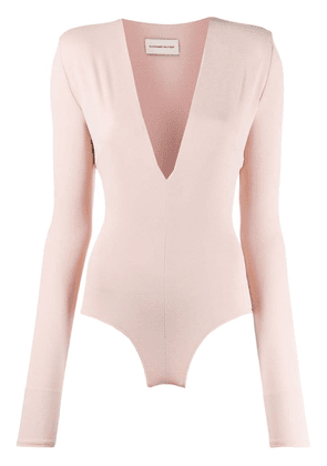 Alexandre Vauthier plunging neck body top - Pink