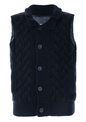 Herno cashmere knitted gilet - Blue