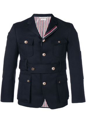 Thom Browne Norfolk High-break Sport Coat - Blue
